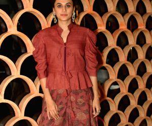 "Grater Noida: Promotion of film ""Manmarziyaan"" - Taapsee Pannu"