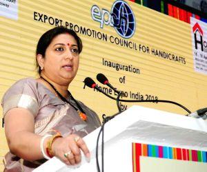 Greater Noida: Home Expo India - 2018 - Smriti Irani
