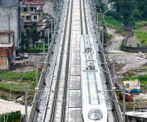 CHINA GUIZHOU HIGH SPEED RAIL LINE OPENING