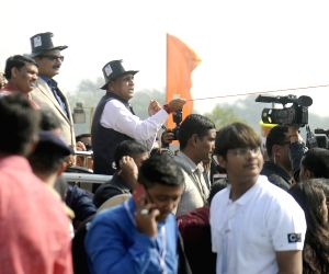 Vijay Rupani during International Kite Festival