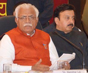 Press conference - Haryana CM