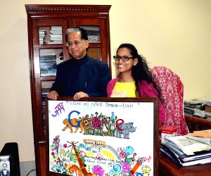 Assam CM with Google's Doodle4Google contest winner