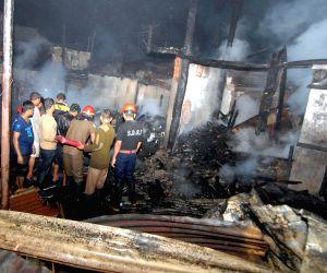 Fire at Pandu Railway Bazzar
