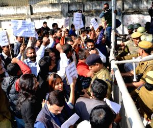 Journalists protest