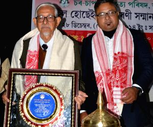Hiren Goha felicitated with Dr.Ismail Hussain Memorial Harmony Award