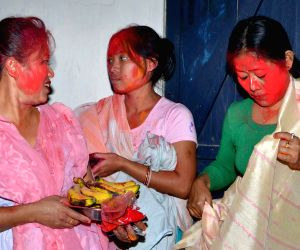 Holi celebrations in Manipur Basti