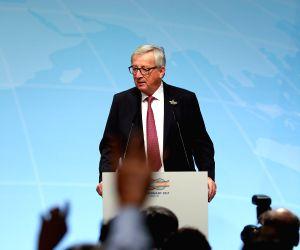 GERMANY-HAMBURG-G20 SUMMIT-JUNCKER-TUSK