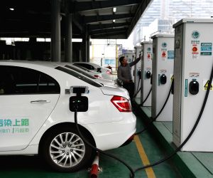CHINA-HANGZHOU-ELECTRIC CAR-CHARGING STATIONS