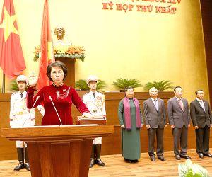 VIETNAM-HANOI-PARLIAMENT-NGUYEN THI KIM NGAN