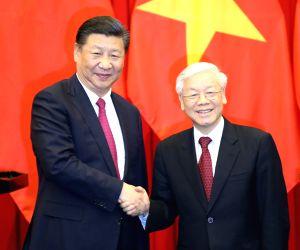 VIETNAM HANOI CHINA XI JINPING NGUYEN PHU TRONG TALKS