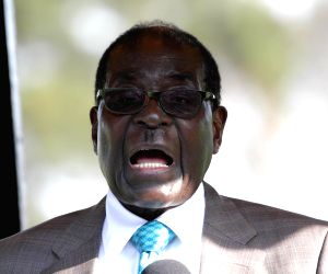 Robert Mugabe during the 104th Harare Agricultural Show
