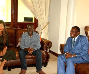 ZIMBABWE-HARARE-PRESIDENT-OPPOSITION PARTY-LEADER-MEETING
