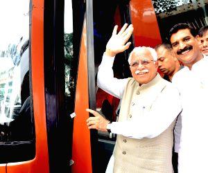 Haryana CM travel by Haryana roadways bus