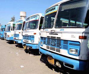 Haryana Roadways staff on strike, commuters suffer
