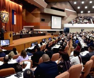 CUBA HAVANA NATIONAL ASSEMBLY SESSION MIGUEL DIAZ CANEL