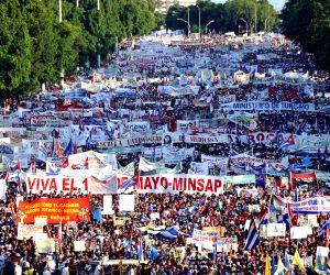 CUBA HAVANA MAY DAY PARADE