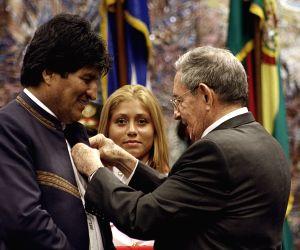 CUBA HAVANA BOLIVIA POLITICS VISIT
