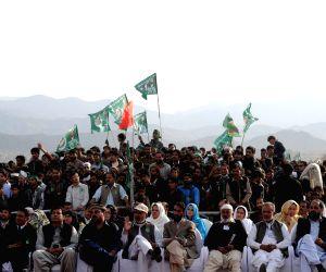 Havelian (Pakistan): Nawaz Sharif addresses during a public meeting