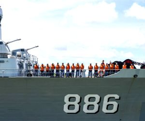 Chinese fleet participating in the Rim of the Pacific (RIMPAC) multinational naval exercises left Pearl Harbor