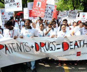 Health activists' demonstration