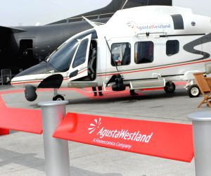 Augusta Westland helicopters during Dubai Air Show 2013