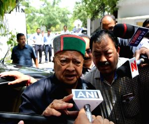 Virbhadra Singh appears before ED