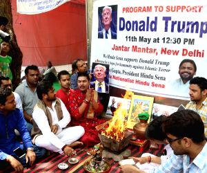 "Hindu Sena activists perform ""yagna"" for Donald Trump's victory"