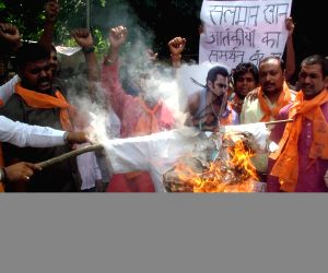Hindu Sena protest against Salman Khan