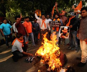 (261115) New Delhi: Hindu Sena demonstration
