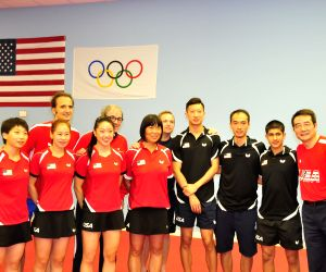 U.S. HOUSTON RIO OLYMPICS TABLE TENNIS TRANING