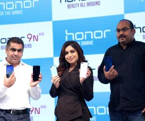 "Bhumi Pednekar at the launch of ""Honor 9N"" smartphone"