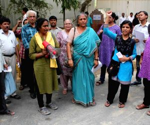 Demonstration against Bhangar violence