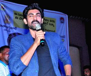 Hyderabad: Actor Rana Daggubati during a programme in Hyderabad. (Photo: IANS)
