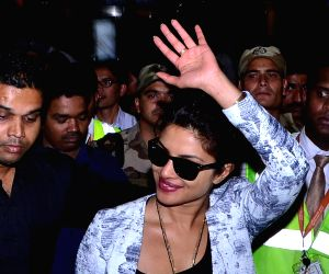 Celebrities arrive at Shamshabad Airport to attend wedding ceremony of Salman's sister