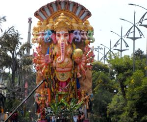 Ganesh procession underway in Hyderabad