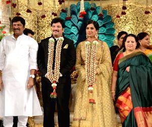 Rajendra Prasad's Son Balaji and Siva Shankari marriage Reception