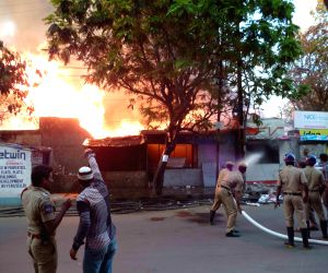 Fire in Hyderabad gas godown