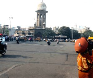 Hyderabad roads wear a deserted look
