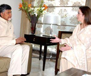 Nita Ambani meets N Chandra Babu Naidu