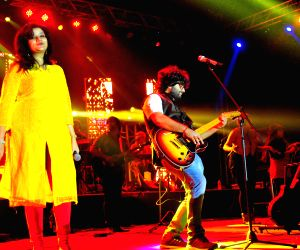 Arijit Singh performs during a concert