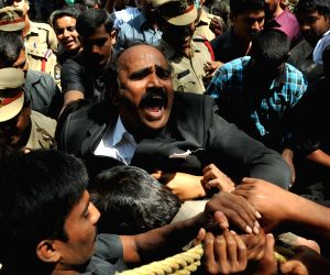 Telangana advocates arrested