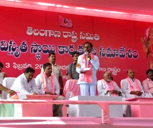 Telangana CM addresses TRS party activists