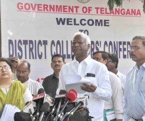 Telengana Deputy CM during a review meeting