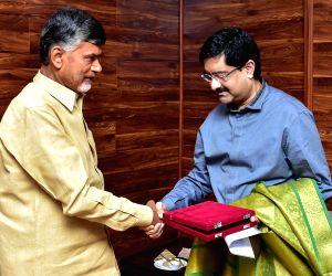 Kumar Mangalam Birla calls on Andhra CM