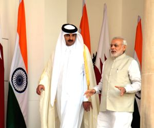 Modi meets Emir of Qatar
