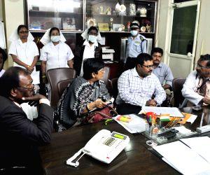 Central medical team visits  Gandhi Hospital