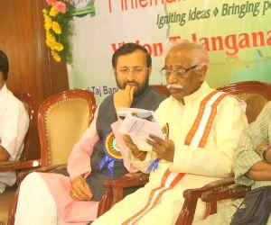 Prakash Javadekar, Bandaru Datatiriya during a programme