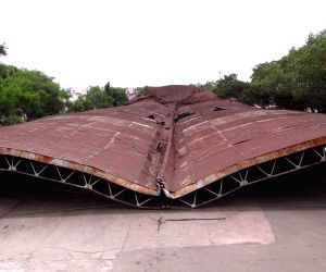 Nizam-era hangar collapses in Hyderabad