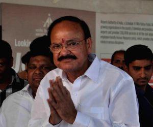 Venkaiah Naidu addresses a press conference