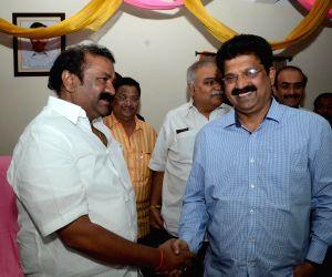 Celebrities meet Telugu Cinematography Minister Talasani Srinivas Yadav